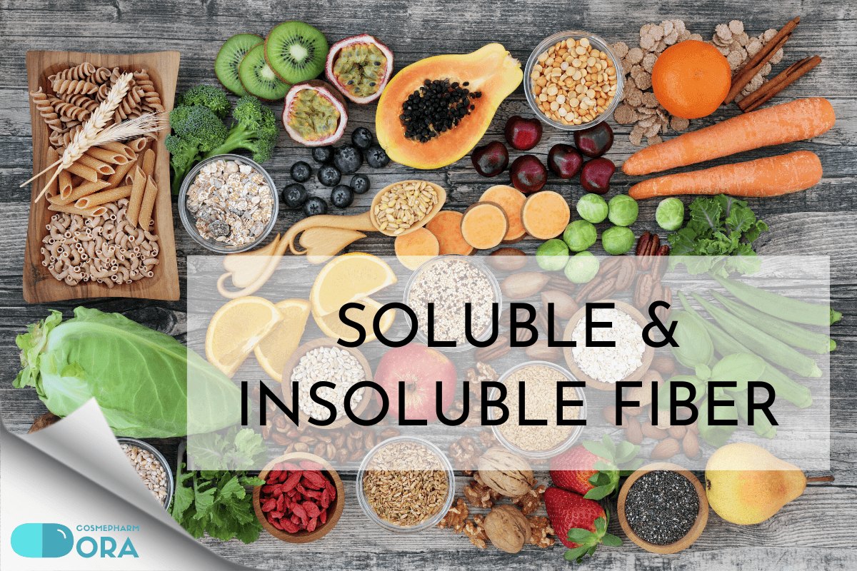 Soluble fiber and insoluble fiber