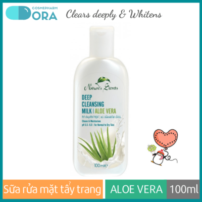 Sữa rửa mặt tẩy trang 2in1 Aloe Vera Extract Facial Cleansing Milk 100ml