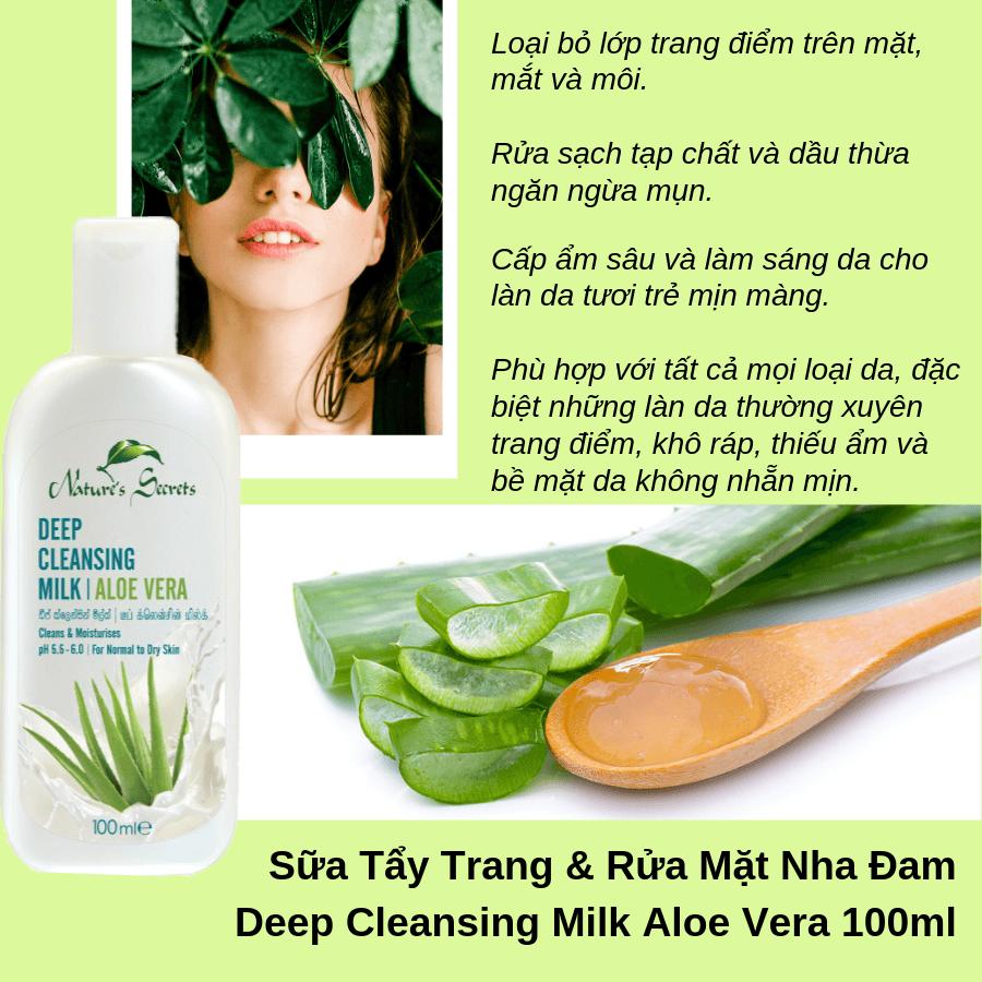Sữa rửa mặt tẩy trang 2in1 Aloe Vera