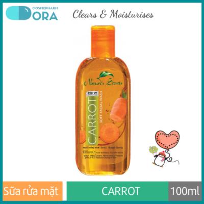 Sữa rửa mặt dưỡng ẩm trắng da Carrot Extract Facial Cleansing Gel 100ml