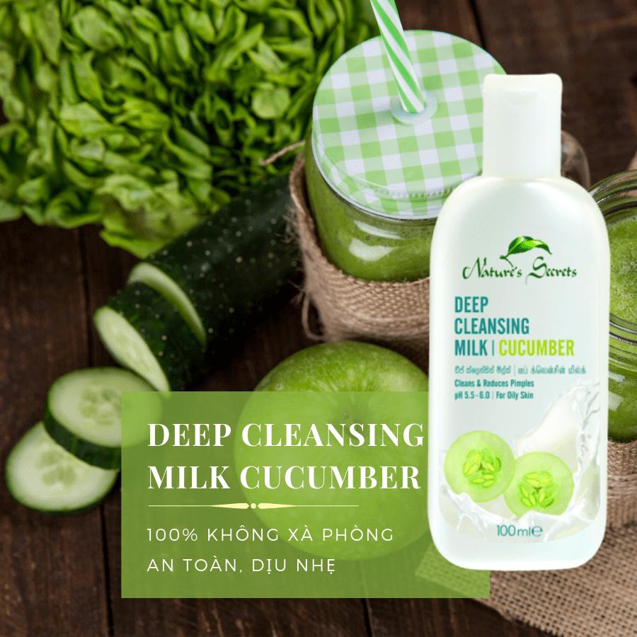 Sữa rửa mặt tẩy trang 2in1 Cucumber